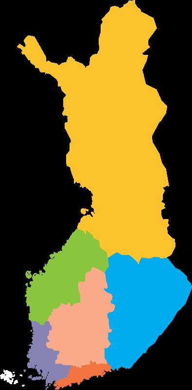 Syömishäiriöliiton alueelliset jäsenyhdistykset kartalla