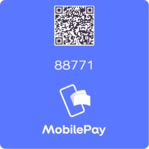 Kuvassa on QR-koodi lahjoittamista varten sekä numerosarja 88771, jonka avulla MobilePayn kautta toimintaa voi myös tukea.