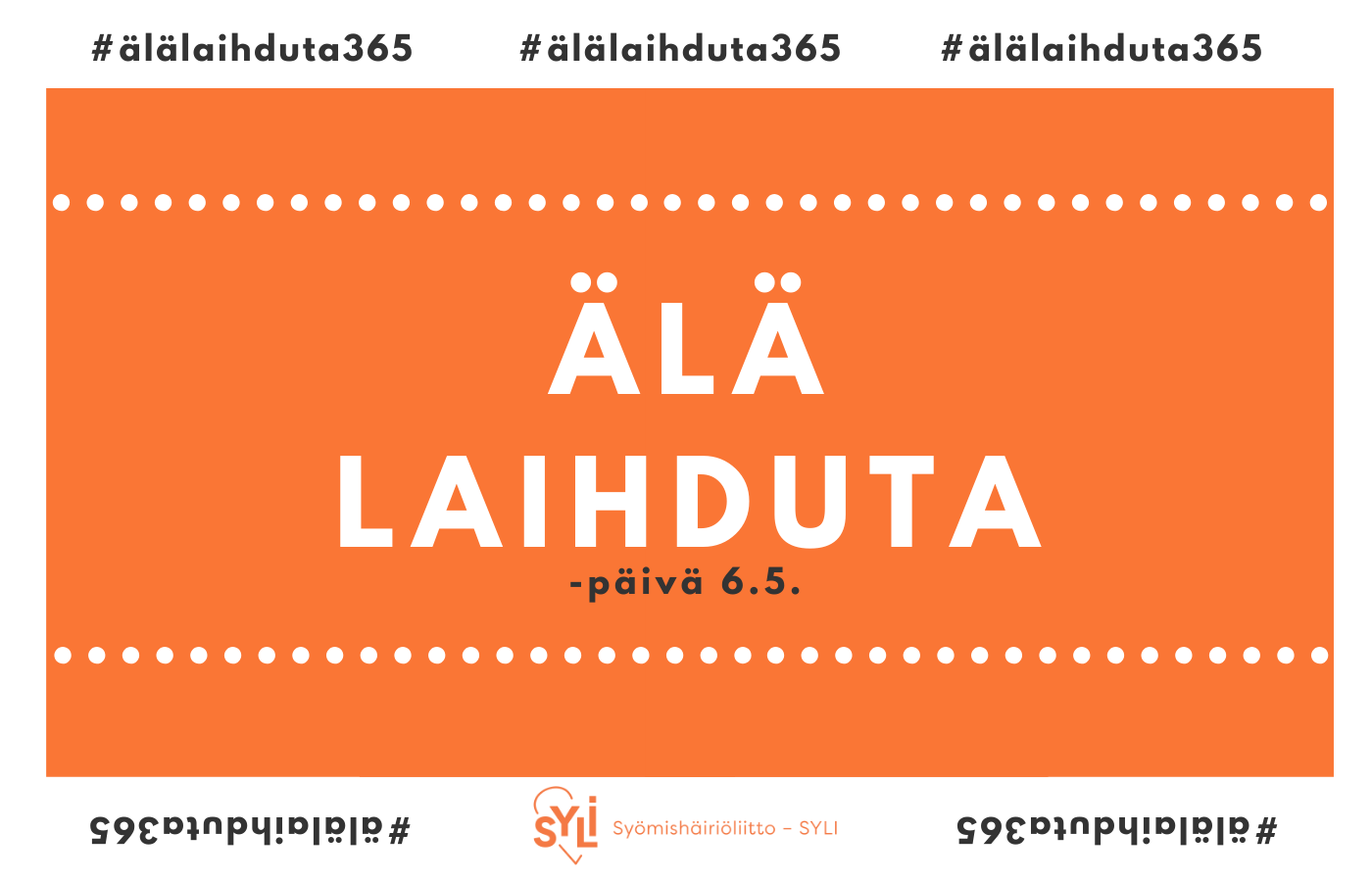 Älä laihduta -päivä 6.5.